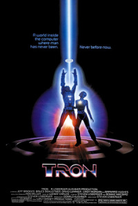 "Tron poster. Notice that the life disc is actually the energy ""on"" symbol."