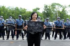 Ferguson-police-Protest-rally-hold-vigils-during-daylight-hours